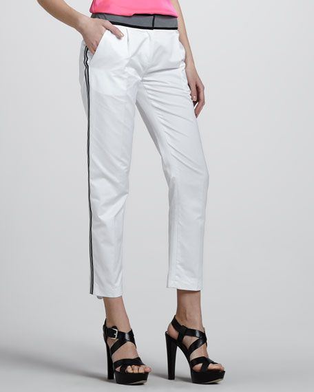 Tech Cropped Trousers