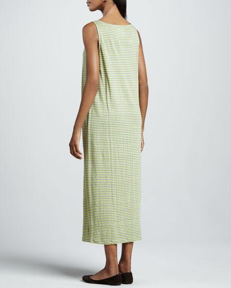 Striped Oval Long Dress