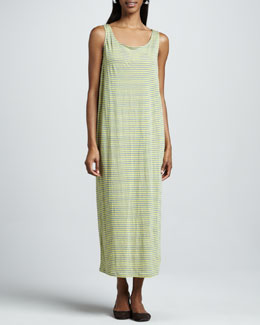 Eileen Fisher Striped Oval Long Dress
