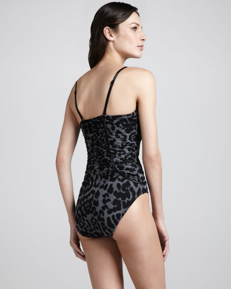 Piping Hot Printed One-Piece Swimsuit