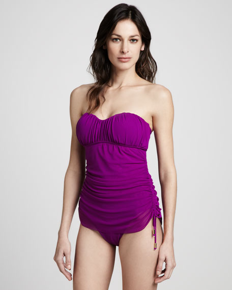 Sultry Sweetheart Bandeau One-Piece, Passion Fruit