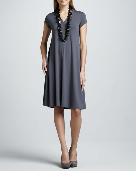 Knee-Length Jersey Dress, Women's