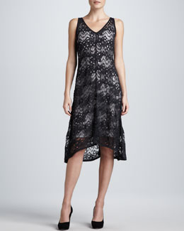 Eileen Fisher Crinkle Lace Dress
