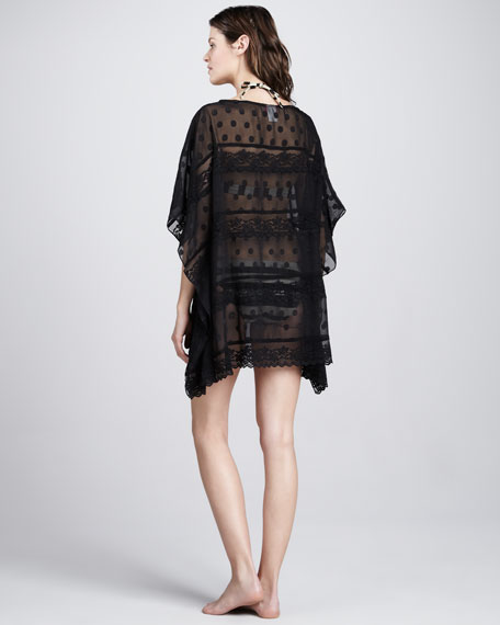 Double Date Lace-Stripe Coverup