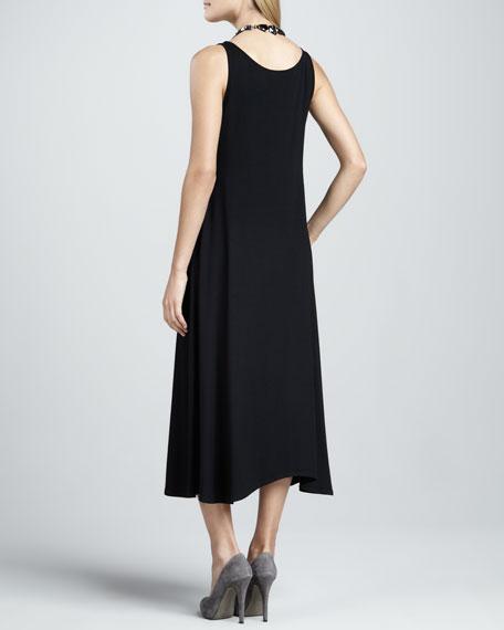 Long Sleeveless Jersey Dress, Petite
