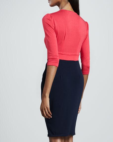 Kai Colorblock-Wrap Dress, Women's