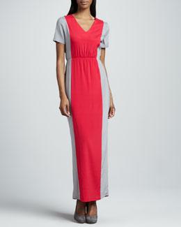 JilRo Jane Colorblock Charmeuse Maxi Dress, Women's