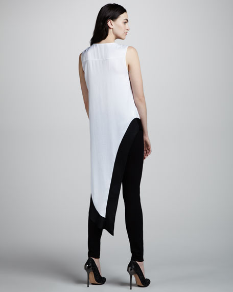 Draped Asymmetric-Hem Top