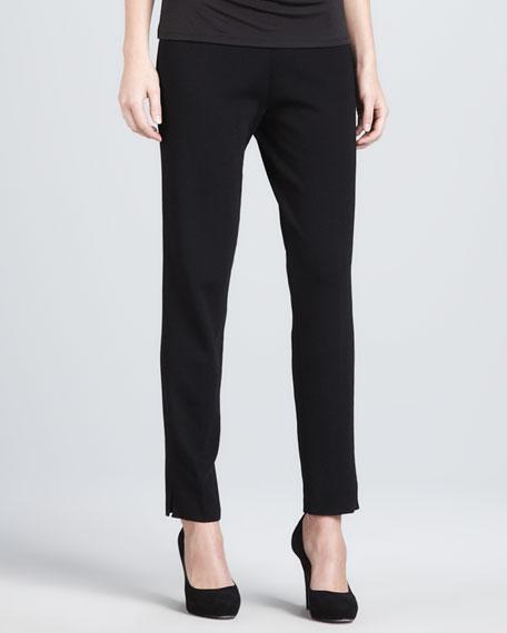 Slim-Leg Pull-On Pants