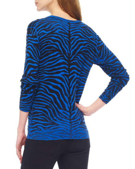 Zebra-Print Sweater