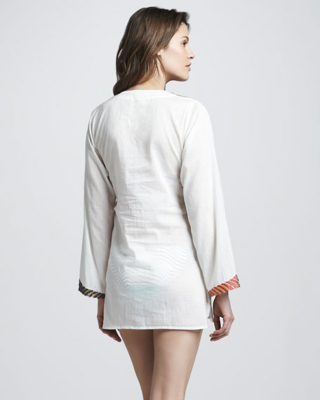 Embroidered Voile Coverup