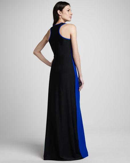 Two-Tone Racerback Dress