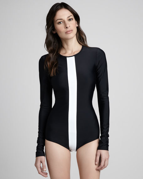 Long-Sleeve One-Piece Swimsuit