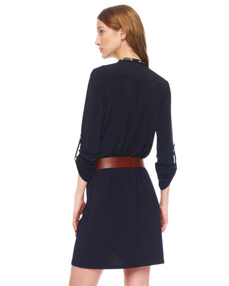 Chain-Collar Shirtdress