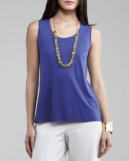 Eileen Fisher Silk-Jersey Tank, Women's