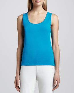 Joan Vass Cotton Rib Tank