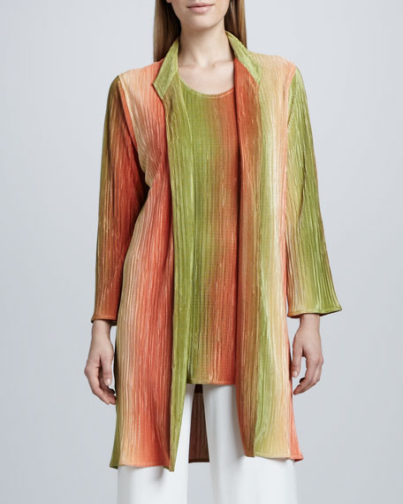 Ombre Pleated Plisse Jacket