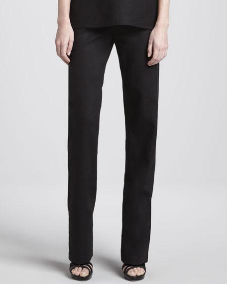 Straight-Leg Linen Pants
