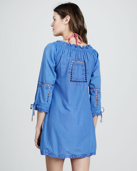 Tie-Sleeve Cutout Coverup