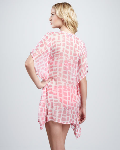 Lace-Up Chiffon Caftan