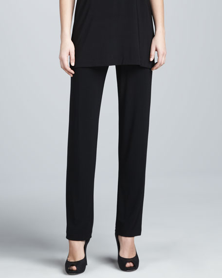 Stretch-Knit Slim Pants
