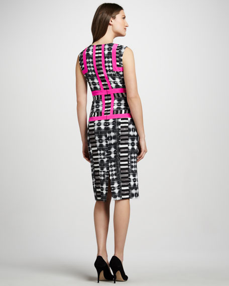Neon-Outline Fitted Dress