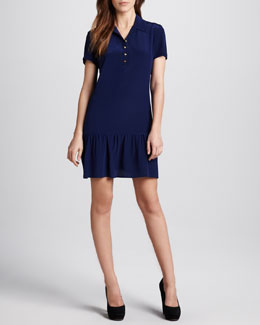 Amanda Uprichard Ruffle-Hem Polo Dress