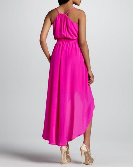 Silk Side-Cutout Dress
