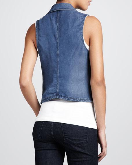 Chambray Zip Vest