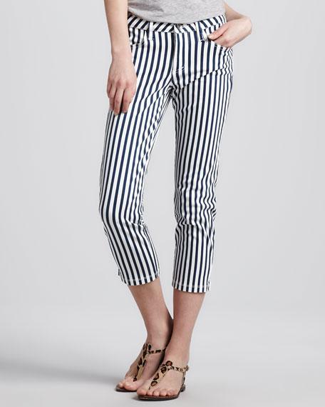 Striped Cropped Pants