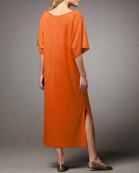 Keyhole-Detail Long Dolman Dress, Women's