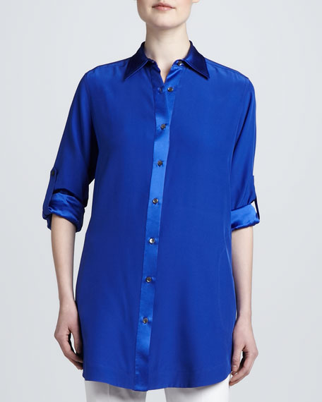 Oversized Button-Front Tunic