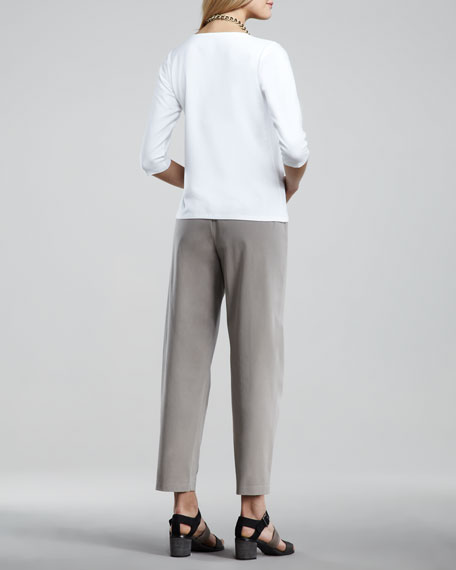 Twill Ankle Pants, Women's