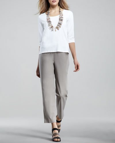 Twill Ankle Pants, Women