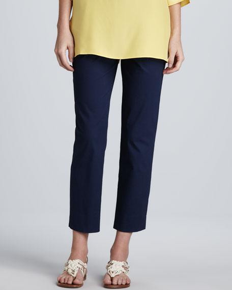 Cropped Side-Zip Pants