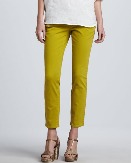 Skinny Organic-Cotton Ankle Jeans, Petite