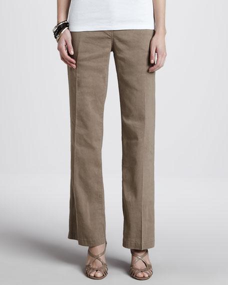 Straight-Leg Trousers, Driftwood