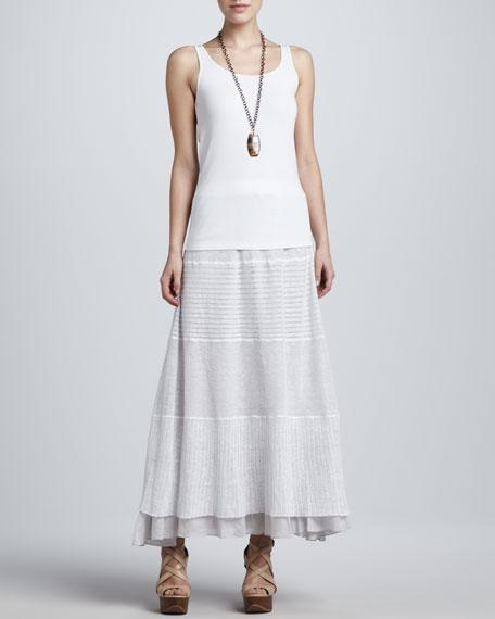 Linen Lace Long Skirt