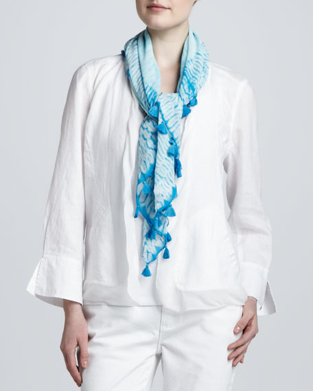 Colorfield Shibori Silk Scarf