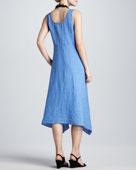 Linen Dropped-Waist Dress