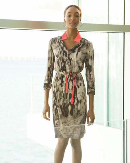 Belen Printed Shirtwaist Dress