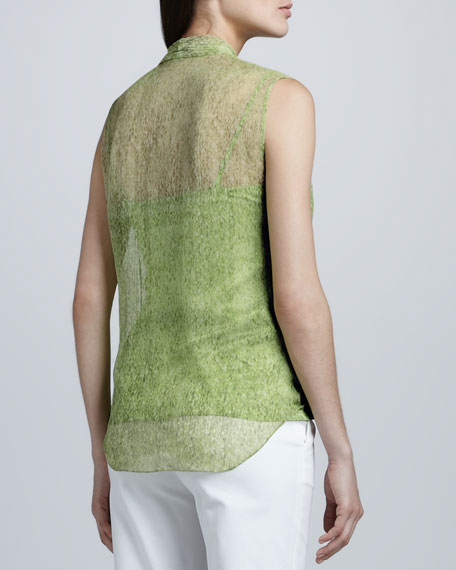 Rosetta Printed Wrap Blouse