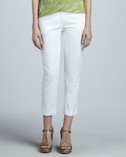 T Tahari Wenda Cropped Slim-Fit Pants