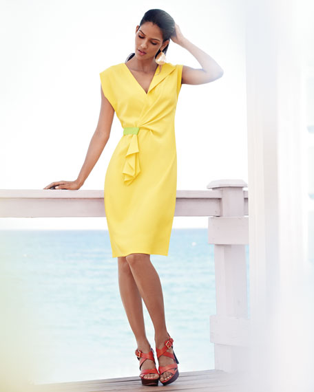 Fabian Faux-Wrap Dress