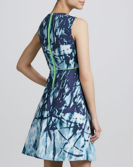 Tyra Printed Fit-and-Flare Dress