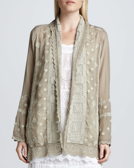 Arron Embroidered Coverup Jacket