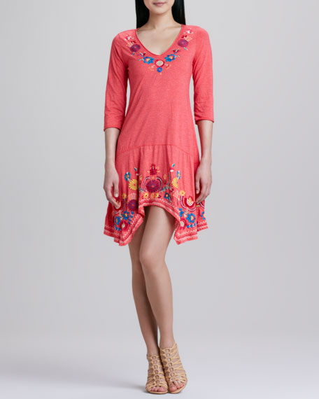 Bronwyn Embroidered Flounce Dress
