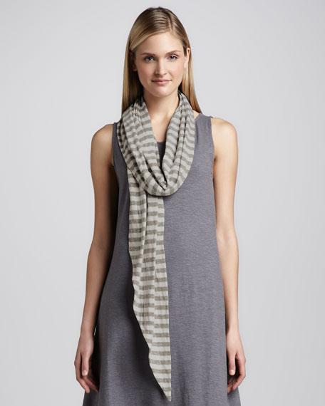 Striped Double-Knit Scarf