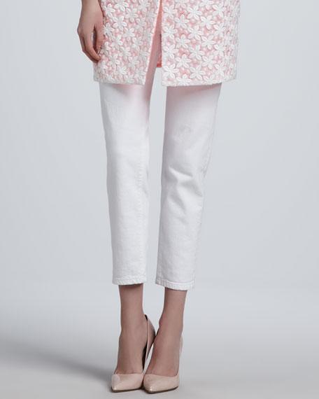 broome street capri jeans, white