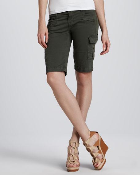 Twill Cargo Knee Shorts